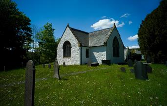St Digain's Church and graveyard, Llangernyw