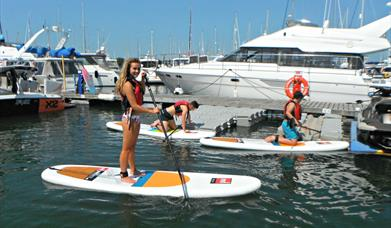 Image of paddleboarding at Conwy