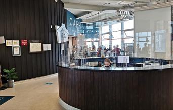Reception area at Porth Eirias Tourist Information  Point, Colwyn Bay