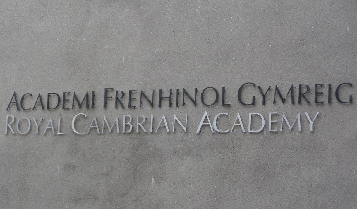 Sign on front of Royal Cambrian Academy