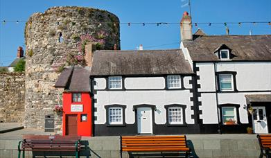 The Smallest House with a turret behind, Conwy.