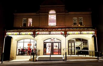 Exterior of Theatr Colwyn at night