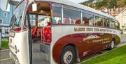 Marine Drive vintage tour bus