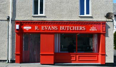 Outside of R Evans Butchers shop