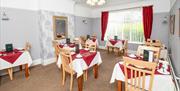 Dining room in Rosaire Guest House, Llandudno