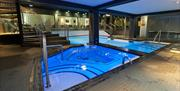 Indoor pool and spa, Empire Hotel