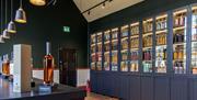 Bar inside Penderyn Distillery Llandudno
