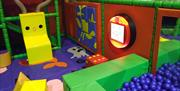Ball pit and toddler soft play area