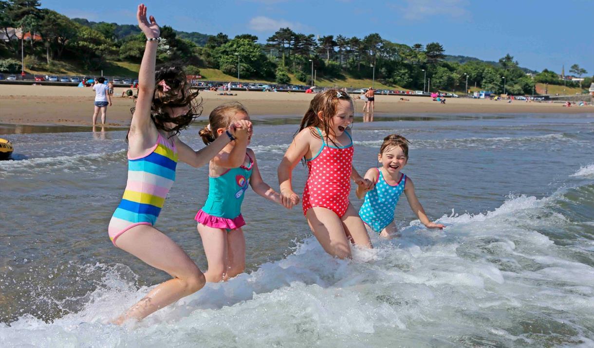 Seaside Award-winning Porth Eirias Beach, Colwyn Bay