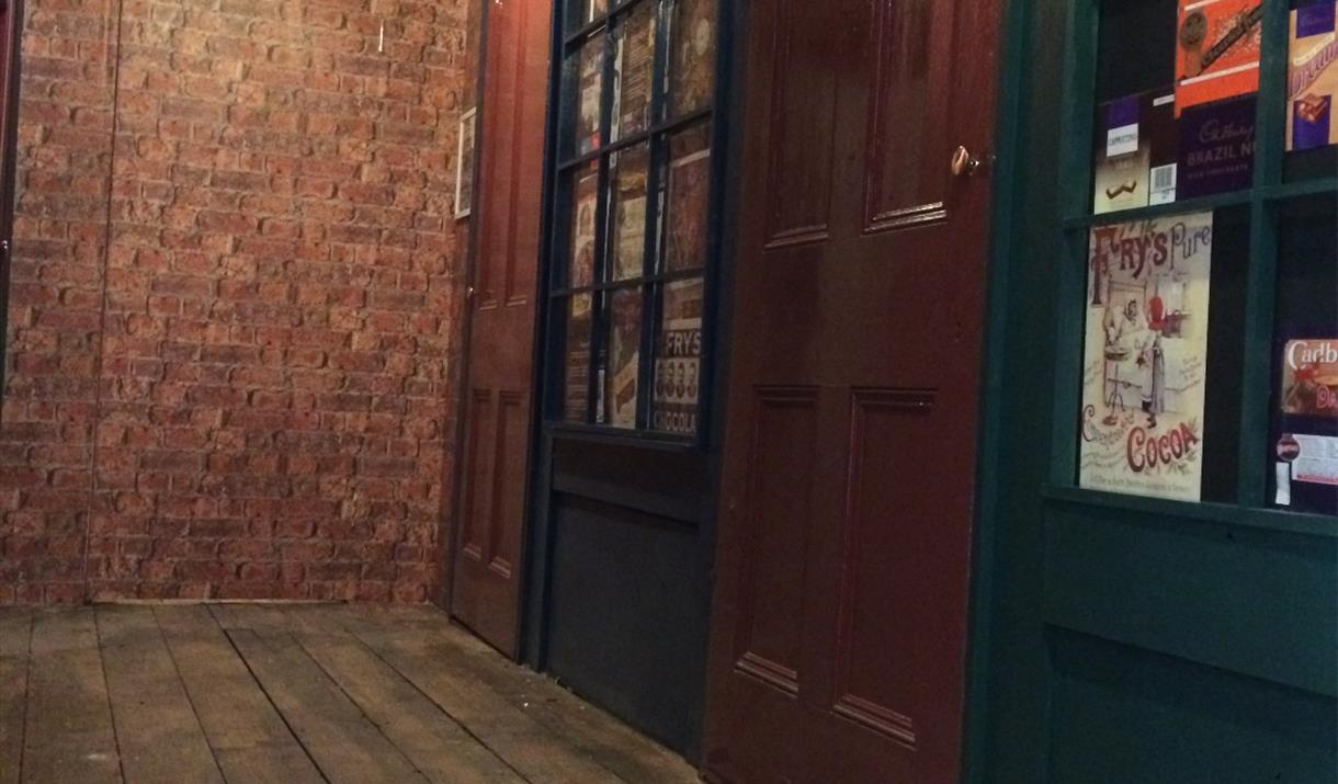 Vintage shop windows, Llandudno Chocolate Experience