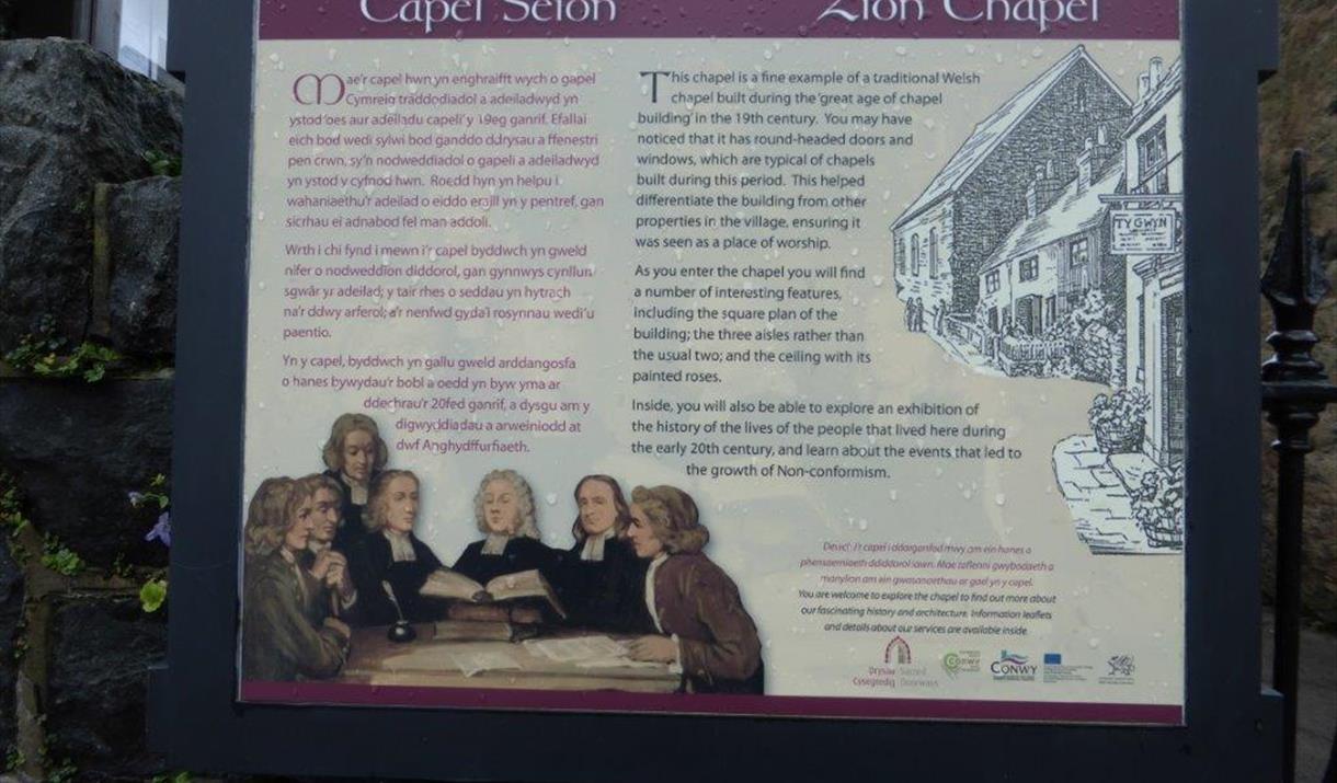 Zion Chapel information board