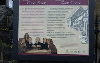 Zion Chapel information board