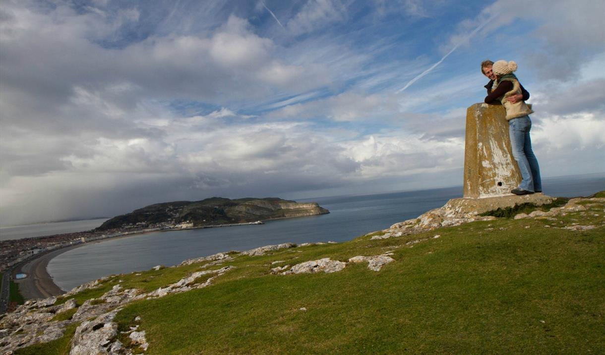 Couple at the summit of the Little Orme