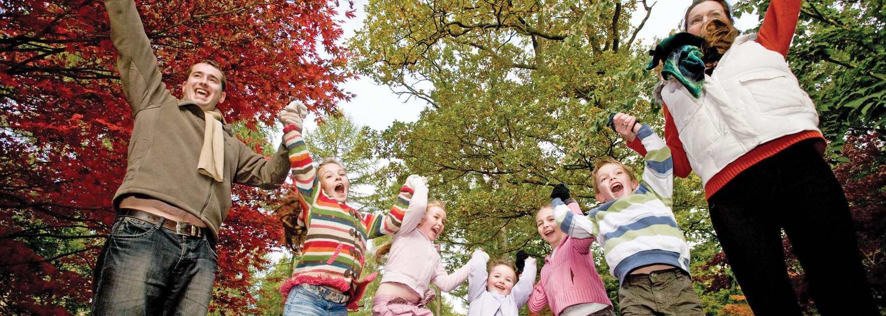 Family at Westonbirt Arboretum