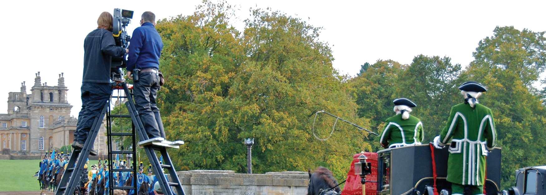 Filming Cinderella at Blenheim Palace