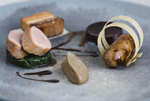 One of the wonderful dishes from the Michelin star restaurant at Lords of the Manor in the Cotswolds