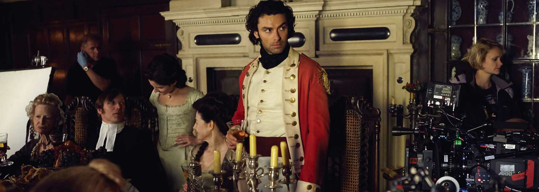Filming Poldark at Chavenage House