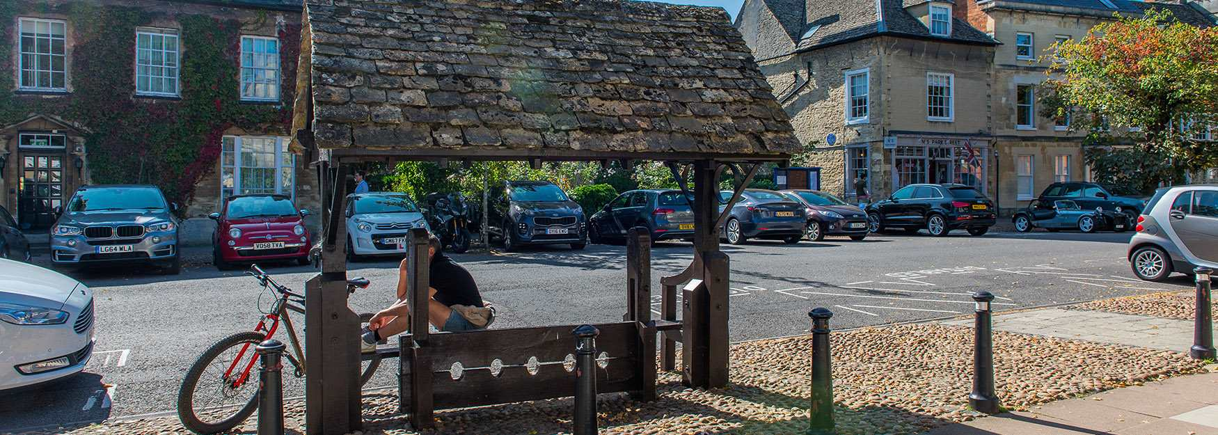 The ancient stocks in the centre of historic Woodstock (photo by Jay Alice Photographic)