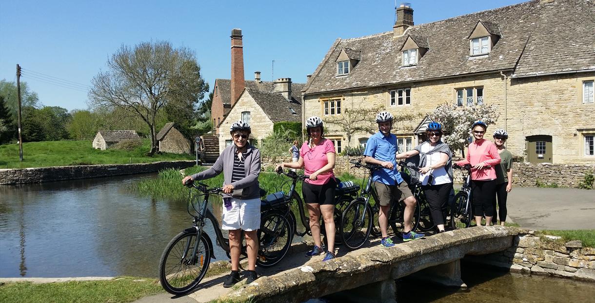 Tour group on bridge