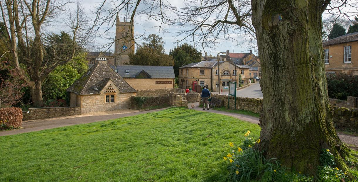 Spring in the Cotswold village of Blockley