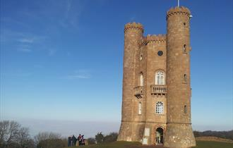 The quirky folly of Broadway Tower, which you can see on a Go Cotswolds guided tour of the Cotswolds