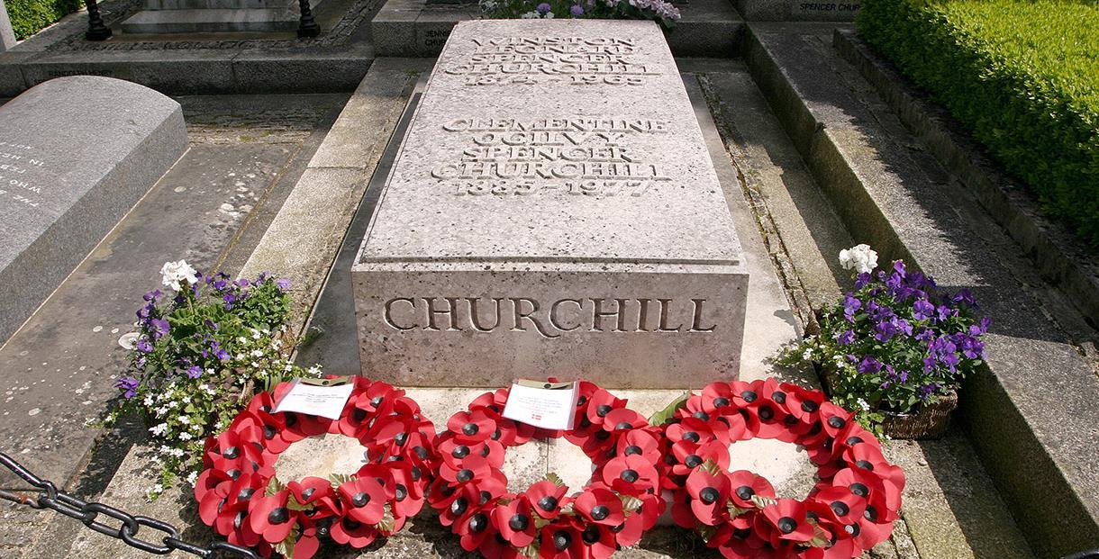 The tomb of Sir Winston Churchill at Bladon