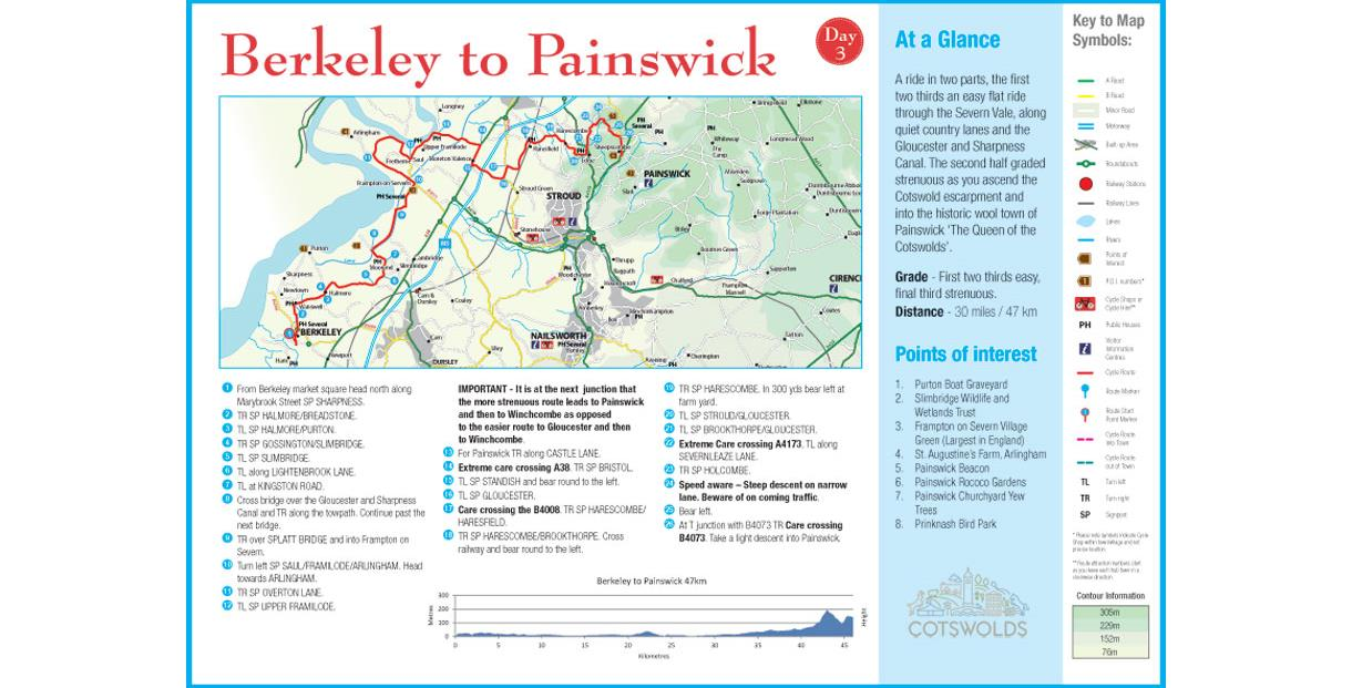Cycle Tour - Day 3 - Berkeley to Painswick