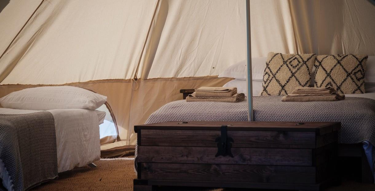 Wild glamping at Chavenage