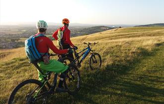 Cyclists enjoying the view