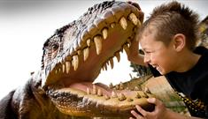 Child and dinosaur