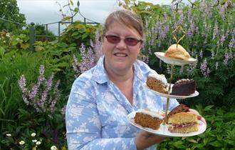 Tea in the garden at Bourton House