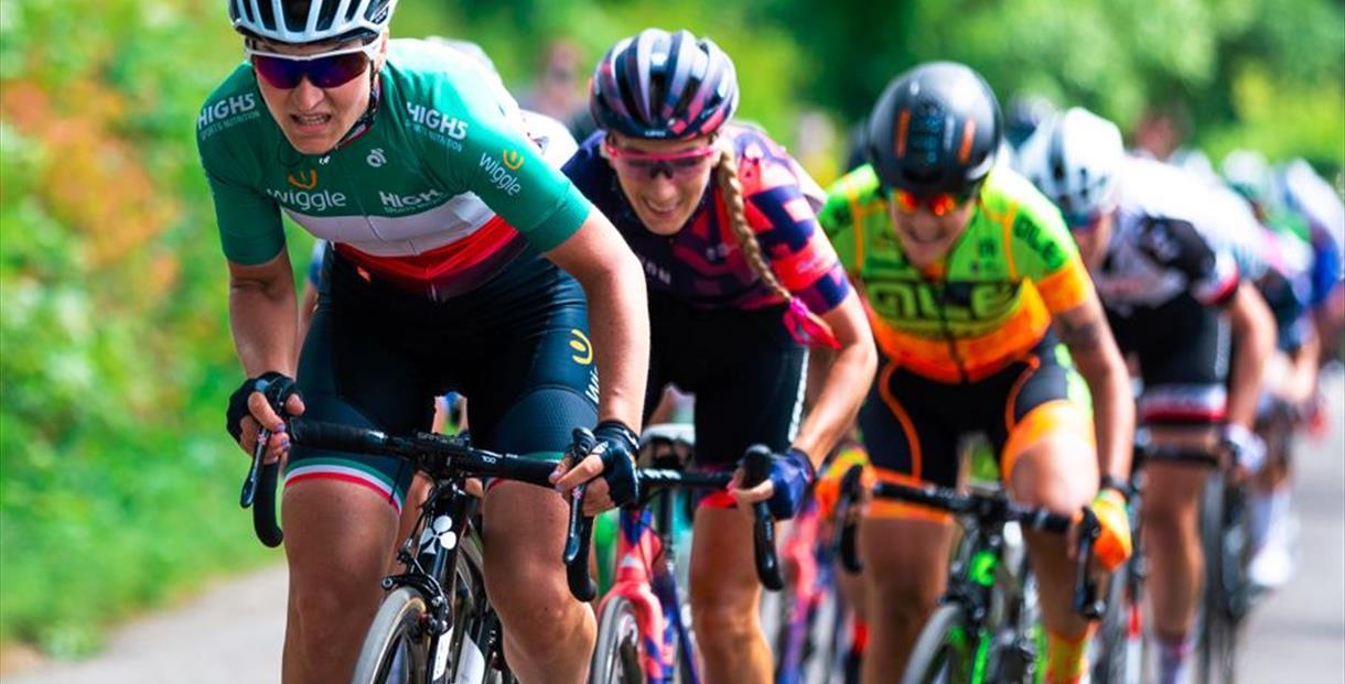 Womens Tour elite cyclists