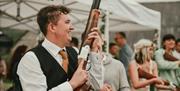 Dean Laser Clay, mobile wedding entertainment
