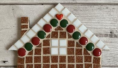 Mosaic Gingerbread House Workshop at The Inspiring Creativity Studio