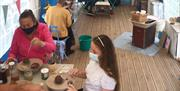 Clay Modelling at Eastnor Pottery