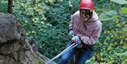 Abseiling with Borderlands Outdoor