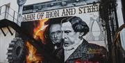 Mural of David and Robert Mushet in Coleford