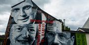 Famous faces of the Forest  - mural in Coleford