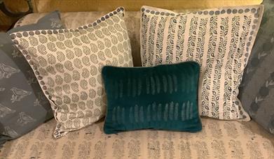 Cushion printing at Made at The Hut