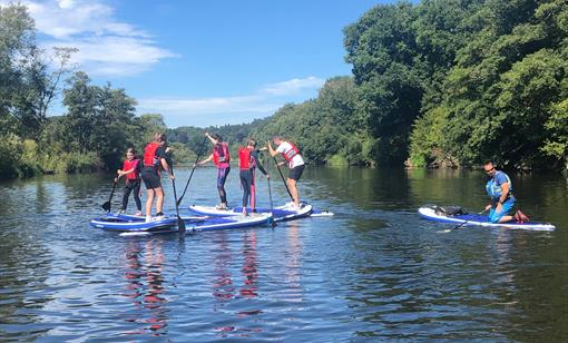 Stand-up paddle boarding on The River Wye at Monmouth with www.inspire2adventure.com