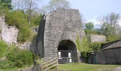 The furnace at Whitecliff Iron Works, Coleford