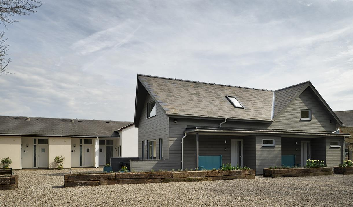 Symonds Yat Rock Lodge Self-catering Apartments, Forest of Dean and Wye Valley.  Front view.