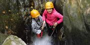 Fun gorge scrambling experience perfect for all with www.inspire2Adventure.com