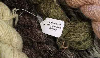 Learn how to spin sheep wool at Humble by Nature