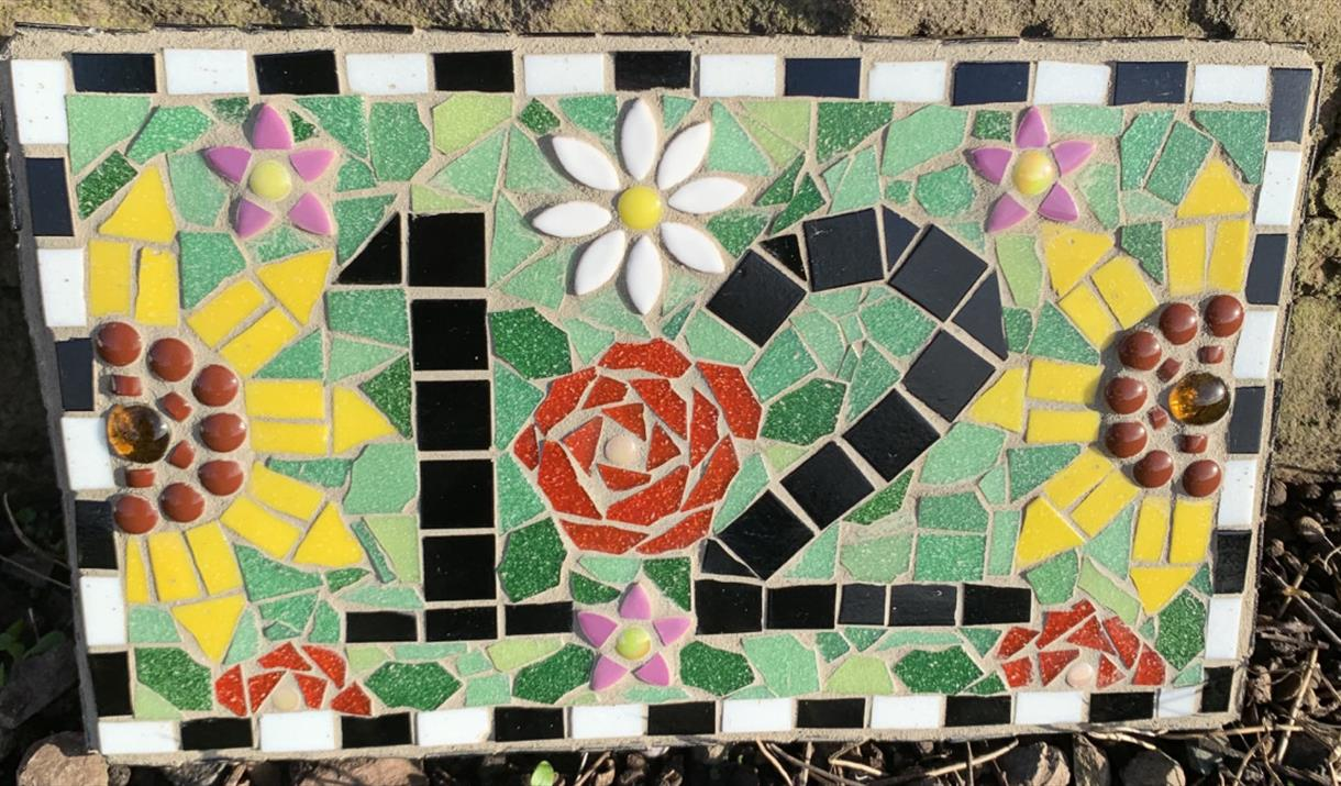 Make a Mosaic House Number