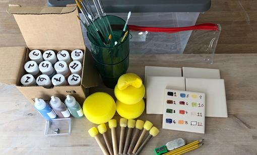 Pottery Painting Hire Kits from Hot Pot Pottery