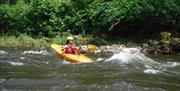 Kayaking the Symonds Yat rapids on The River Wye with www.inspire2Adventure.com