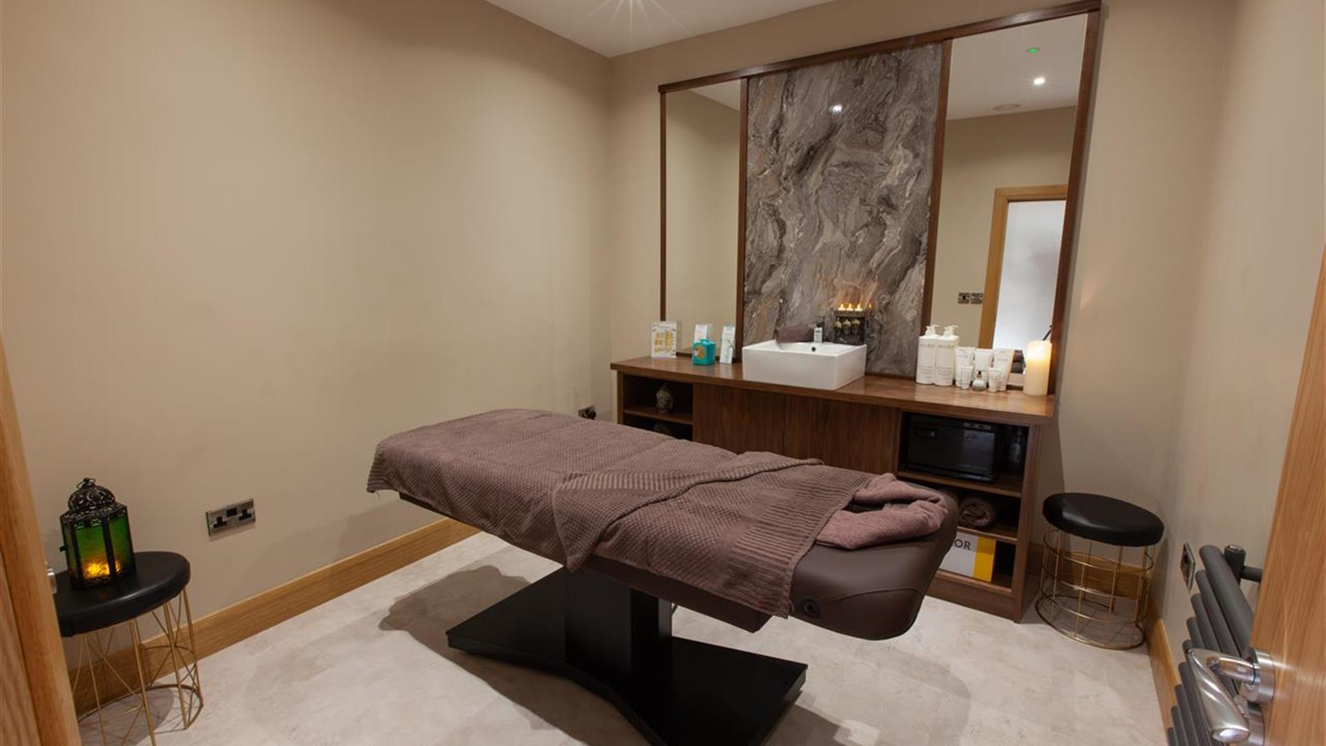 The treatment room at the White Horse Hotel.