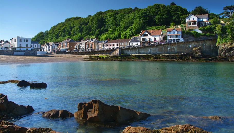 Combe Martin village, Devon
