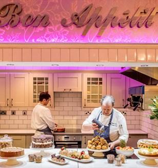 kitchen and restaurant